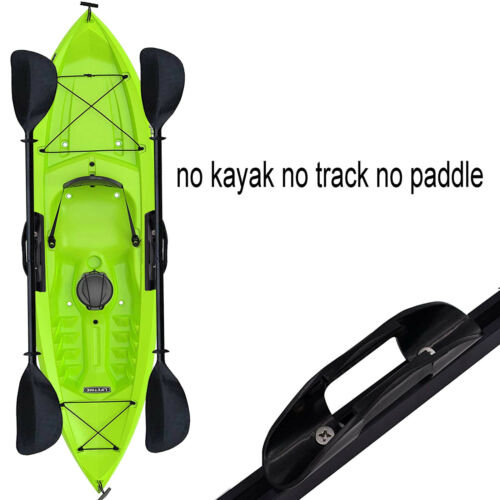 2x Kayak Boat Plastic Paddle Holder Clip Track Mounting Screws Nuts Accessories