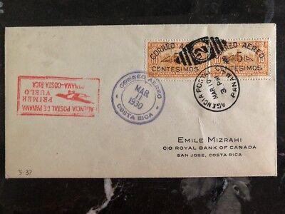 Süd- & Mittelamerika Panama Humorvoll 1930 Panama Erstflug Luftpost Abdeckung Ffc Zu Royal Bank Of Kanada Costa Rica