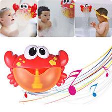 Crab Bubble Machine 12Songs Musical Bubble Machine Baby Children Bath Shower Toy