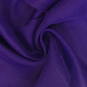 Indian-100-Cotton-Plain-Voile-Crafts-Solid-Light-Weight-Purple-Fabric-10-Yard