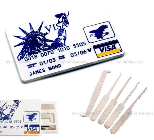 Credit card lockpick set locksmith tools lockpicking unlock kit de crochetage //