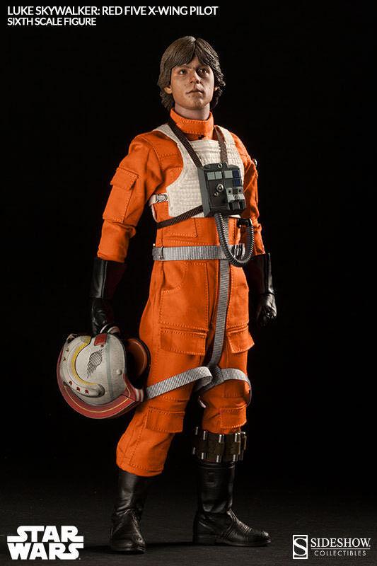 1  6 stjärnornas krig Luke Skypromänader röd Five X -vinge Exklusiv sideshow JC