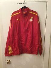 "Puma ""Ghana Football Association"" Red Full Zip Windbreaker Jacket, Size XL, NWT!"