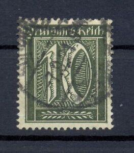 DR-159-b-Freimarke-10-Pfg-schwarzoliv-gestempelt-geprueft-or106