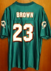 34459daee Image is loading MIAMI-DOLPHINS-Ronnie-Brown-23-youth-XL-football- · REEBOK  CINCINNATI BENGALS CARSON PALMER JERSEY WHITE ...