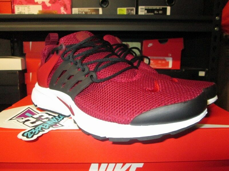 SALE NIKE AIR PRESTO ESSENTIAL TEAM RED GYM RED BLACK WHITE 848187 605 NEW RUN