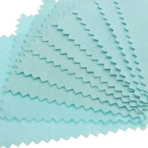 10//100X Silberpoliertücher Silber Silberschmuck Poliertuch Putztuch