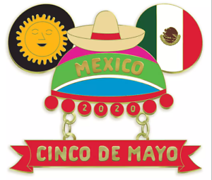 Mouseketeer Ear Hat Pin Cinco De Mayo 2020 Limited Edition