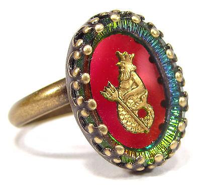 SoHo® Ring vintage altgold bronze bohemia oval volcano Wassermann Sternzeichen
