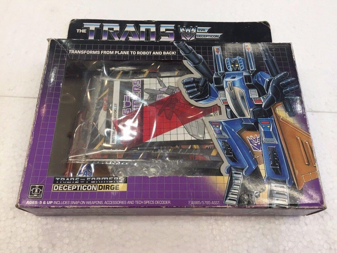 1985 The TRANSFORMERS Evil Decepticon DIRGE by Hasbro
