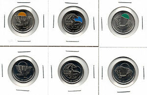 FULL-SET-of-Legendary-2011-Coloured-Canada-Parks-Quarters-Bison-Orca-Falcon