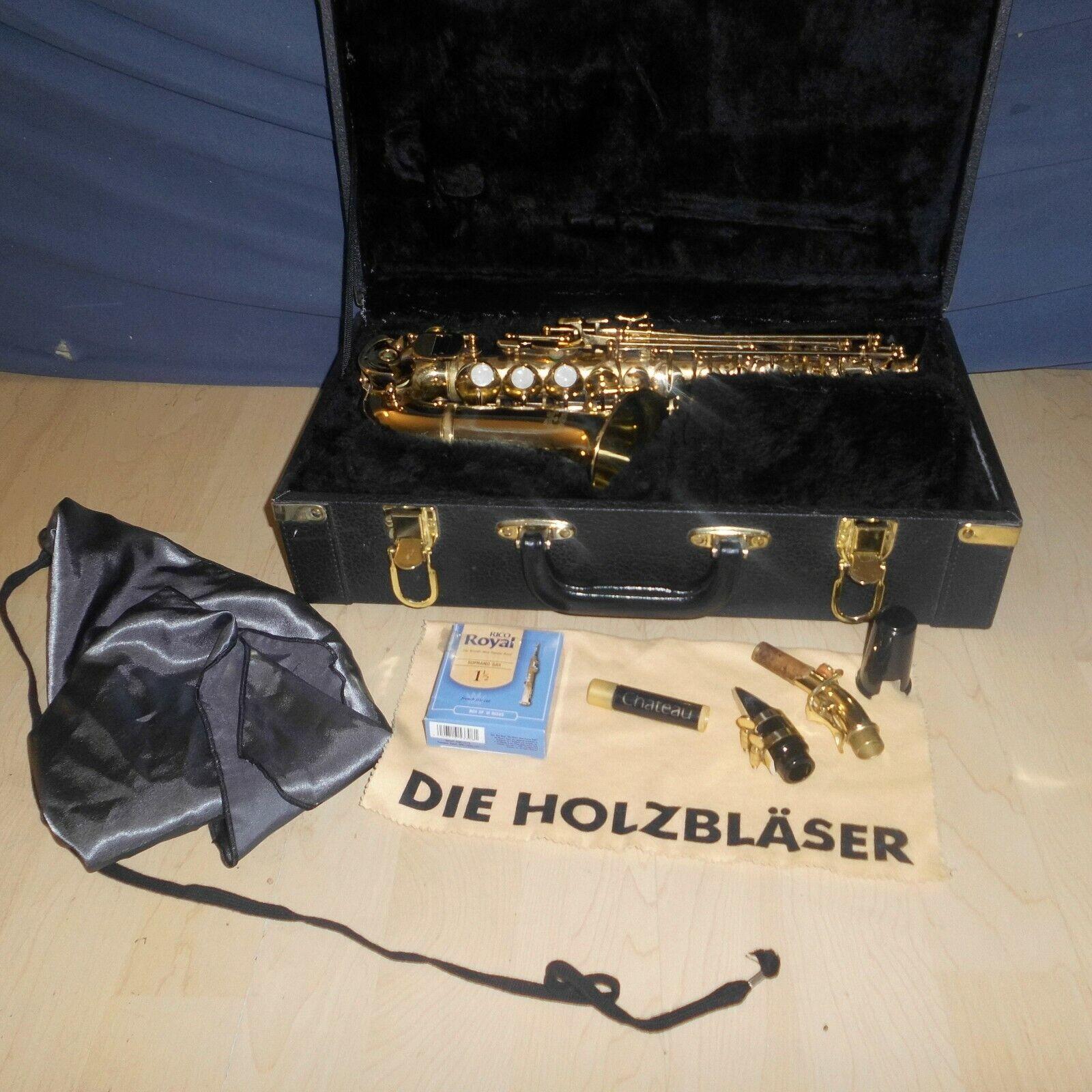 Yoshino V12 Soprarsaxophon gebogen Saxofon Saxophon ,case , yamaha mundstück