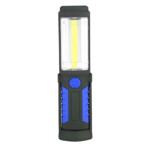 3W Rechargeable COB LED Flashlight Emergency Work Light with Magnetic Stand Blue