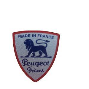 Peugeot Freres Logo Kaffeemühle Silber Blau Metallic Restaurieren 28x32 mm