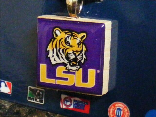 Louisiana State University LifeTiles Wood Charm Pendant by WinCraft LSU  Tigers f989d3ee1