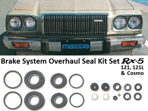 Brake System Overhaul Seal Kits Set for Mazda Rx5 / Rx-5 / 121 / 121L / Cosmo