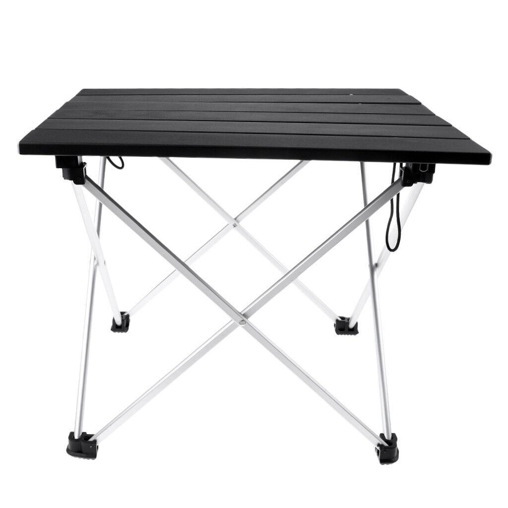 Outdoor Camping Pliant Roll Table Avec une haute stabilité de Pêche Camping BBQ
