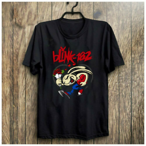 Blink-182 Band Rose Black T-Shirt Unisex Cotton All Size S-234XL NEW G1191 RARE