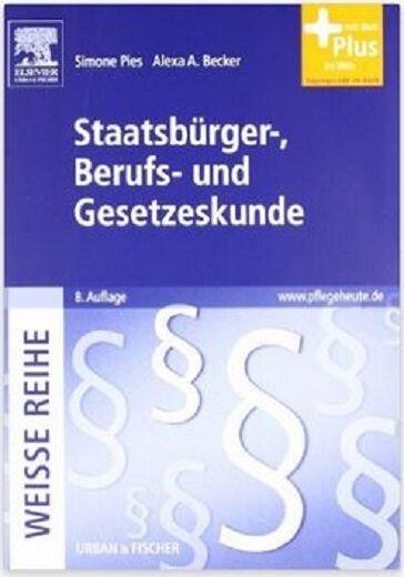 STAATSBÜRGER-, BERUFS- UND GESETZESKUNDE, 8. Auflage, UNBENUTZT/NEU, Web-Zugang