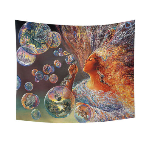 Psychedelic Angel Tapestry Wall Hanging Toile de fond fond tissu tapis Art Decor