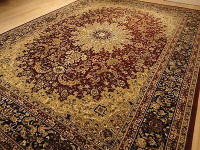 Red Persian Style 8x11 Oriental Area Rug 8x10 Carpet Tabriz Design Rugs 8x11 Rug