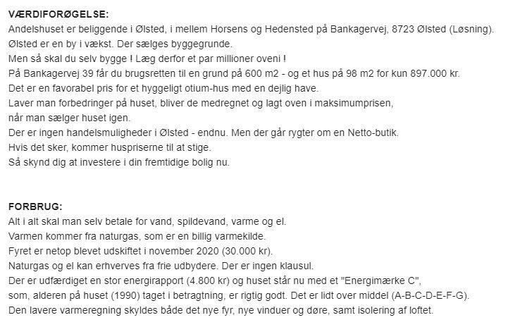 BILLIG Pensionist parcelhus 2.060 kr.
