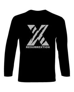 BUNDLE-T-Shirt-Hip-Hop-manica-lunga-Resurrextion-logo-X-CD-Resurrection