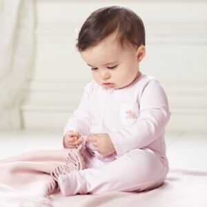 In Fragrant Mud Pie E8 Classic Layette Baby Girl French Knot Lamb Sleeper 1162041 Choose .. Flavor