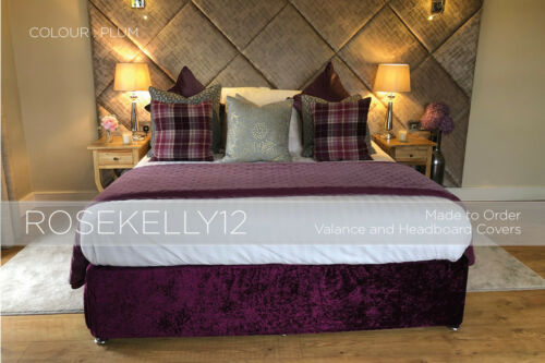 ALL SIZES Crushed Velvet Elasticated Bed ValanceDivan Base CoverBed Wrap