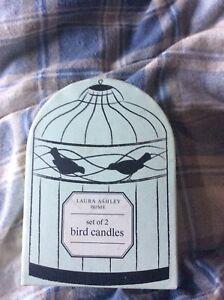 Laura-Ashley-Bird-Candles-Still-In-Box-x-2-Wedding-decorations