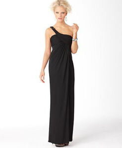 Image is loading NWOT-black-BCBG-MAXAZRIA-Dress-One-Shoulder-Jersey- 0e48459b6