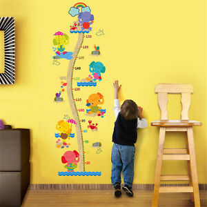 Cartoon-Height-Elephant-Home-Decor-Removable-Wall-Sticker-Decals-Decoration