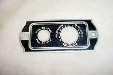 Vintage Car Heater Face Plate