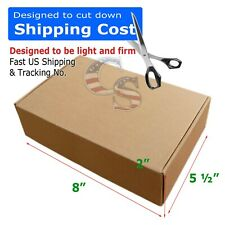 100 8x5x2 Shipping Packing Mailing Moving Tapeless Boxes Corrugated Carton Us