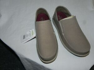 New-Men-039-s-Size-9-Crocs-Santa-Cruz-Convertible-Slip-on-Loafer-Khaki-Cobblestone