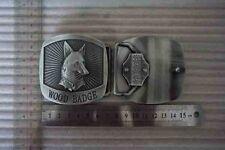 WOOD BADGE FOX  BELT BUCKLE WOODBADGE