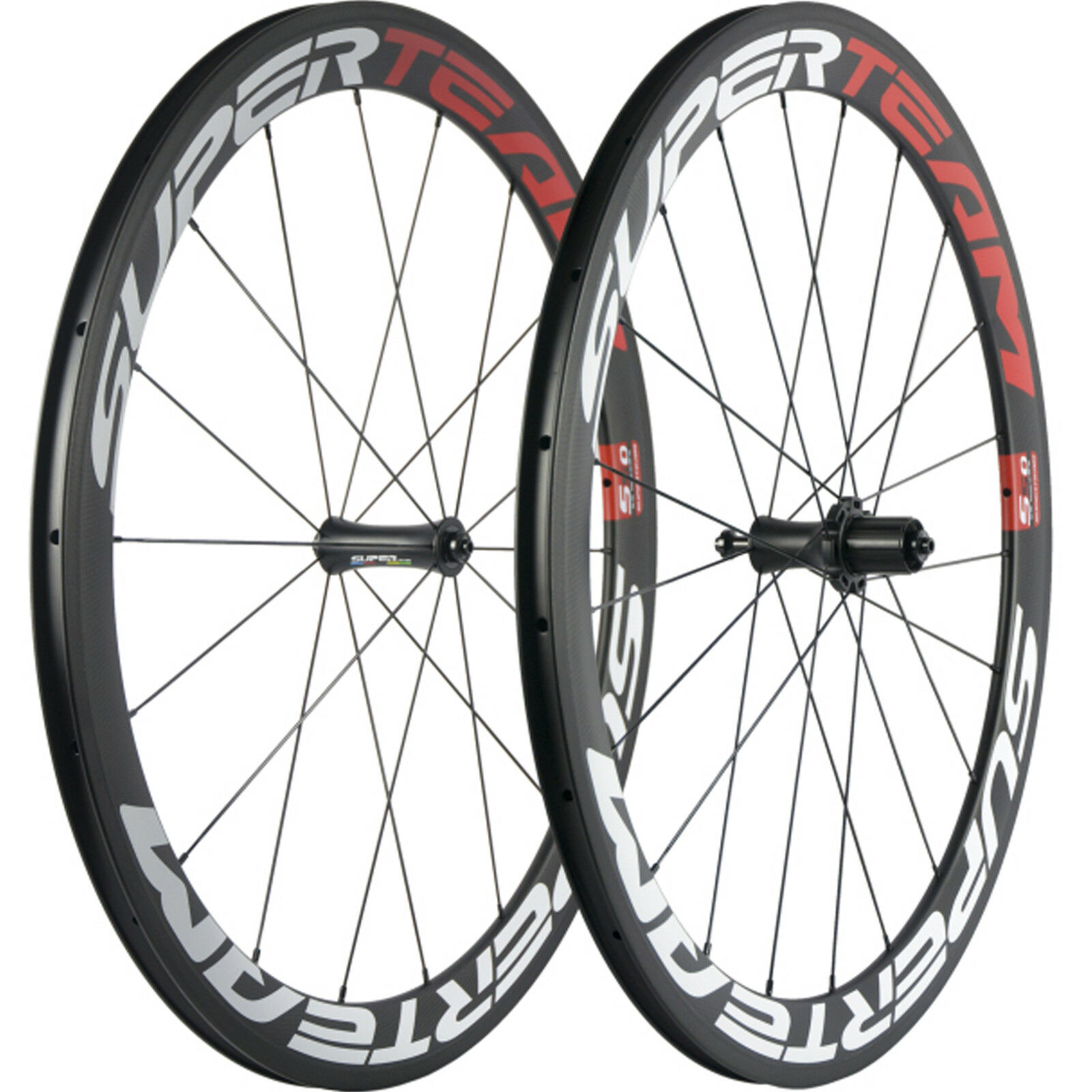 SUPERTEAM Bicycle Carbon Wheelset Clincher 50mm Carbon Road Bike Wheels  R7 Hub  everyday low prices