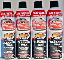 4 Cans FW1 FASTWAX Waterless Wash  Car Wax FREE SHIP + 2 MICROFIBER TOWELS