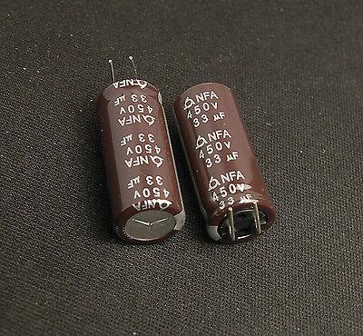 2PCS 450V 33uF 450Volt 33MFD Electrolytic Capacitor 16mm×25mm