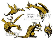 Hanna Barbera MODEL SHEET PRINT - The HERCULOIDS - ZOK