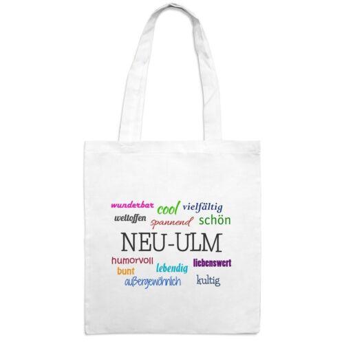 Jutebeutel mit Stadtnamen Neu-Ulm Motiv Positive Eigenschaften