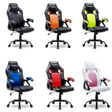 Ergonomic Gaming Racing Chair Computer Desk Swivel Office Executive Pu Leather