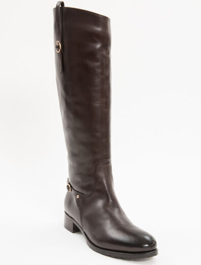 New A.Pugachova marron Leather MADE IN ITALY bottes With Fur Taille 39 US 9