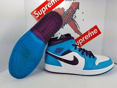 b53f3837 Details about VNDS Nike Air Jordan 1 Mid Hornets Blue/Purple/White 554724  415 Men's Sz 12