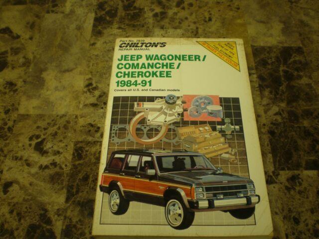 Chilton U0026 39 S Jeep Wagoneer Comanche Cherokee 1984