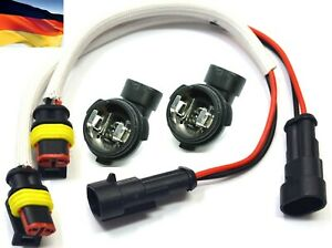 Flosser-1445-Pigtail-Female-H1-Fog-Light-Bulb-Connector-Holder-W-Wire-Harness