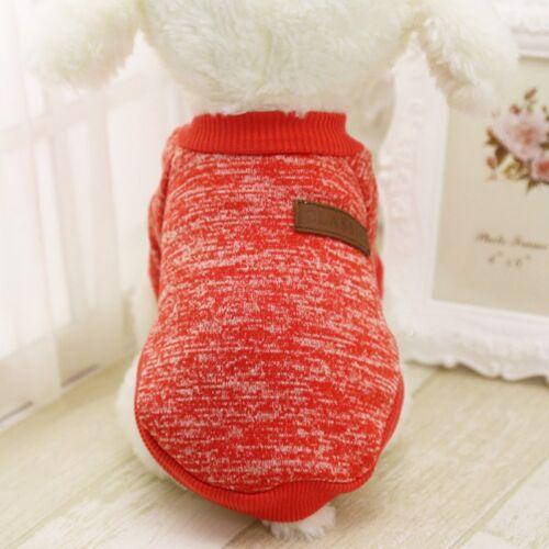 Small Pet Coat Dog Winter Sweater Clothes Puppy Cat Jacket Coat Apparel Customes