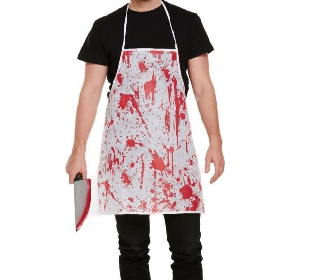 1 Pc Kitchen Unisex Halloween Costume Horror Bloody Apron Butchers Chef Cook Adult Novelty Fancy Dress Party Supplies New Household Cleaning
