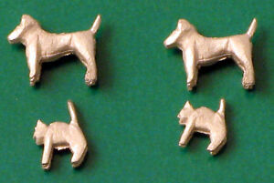 oo figures (animals) - 2 white-metal dogs + 2 cats - springside a2, Powerpoint templates