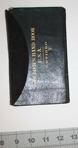 leatherbound 1896 Soldiers Handbook 77 pages Rules Regulations  Records